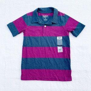 Oshkosh Striped Polo Size 4 NWT